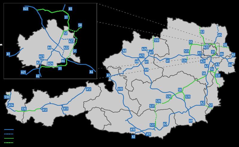 osztrák autópályák
